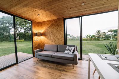 Kis ház nappalija - nappali ötlet, modern stílusban