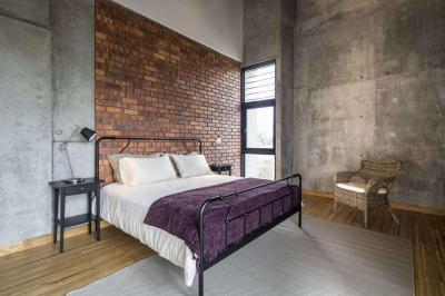 Ipari jellegű hálószoba - háló ötlet, modern stílusban