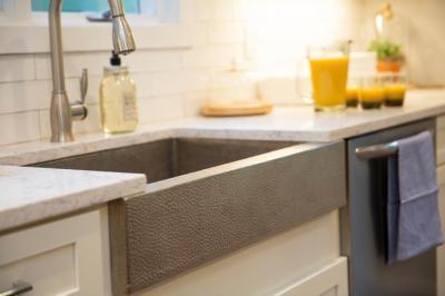 Szürke mosogató - konyha / étkező ötlet, modern stílusban