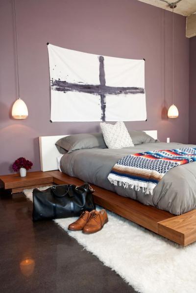 A szingli pasi szoba - háló ötlet, modern stílusban