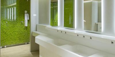 Közösségi toalett - fürdő / WC ötlet, modern stílusban