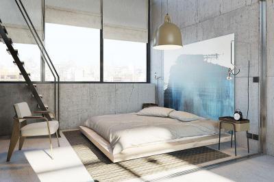 Loft hálószoba - háló ötlet, modern stílusban
