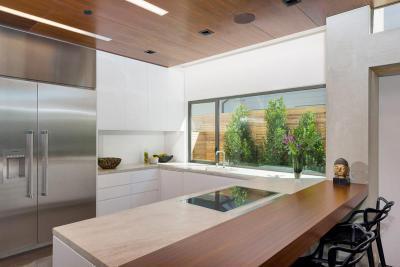 Modern U alakú konyha - konyha / étkező ötlet, modern stílusban