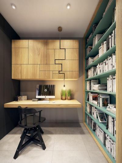 Modern dolgozószoba2 - dolgozószoba ötlet, modern stílusban