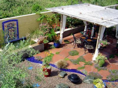 Mediterrán kert - kert / udvar ötlet, mediterrán stílusban
