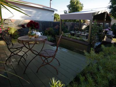 Teázós terasz - kert / udvar ötlet, rusztikus stílusban