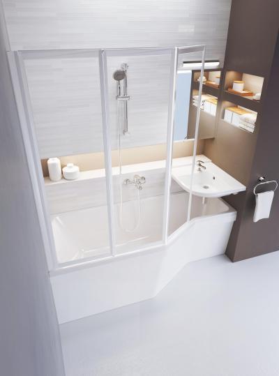 Látványos kádparaván - fürdő / WC ötlet, modern stílusban