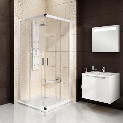 Zuhanyzó a sarokban - fürdő / WC ötlet, modern stílusban