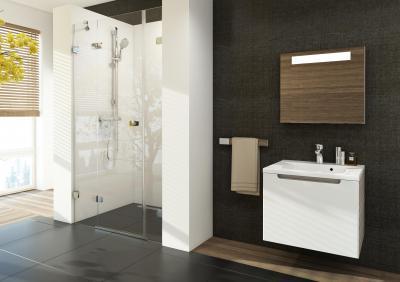 Zuhanyfülke a falmélyedésben - fürdő / WC ötlet, modern stílusban