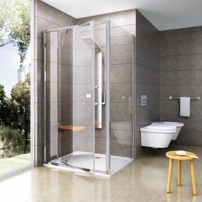 Sarok zuhanyfülke - fürdő / WC ötlet, modern stílusban