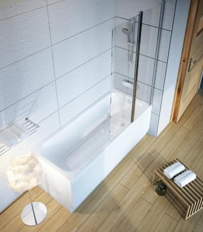 Kád paravánnal - fürdő / WC ötlet, modern stílusban