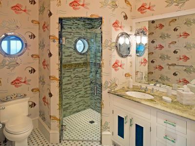 Halas tapéta - fürdő / WC ötlet