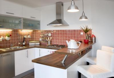 U alakú konyha - konyha / étkező ötlet, modern stílusban