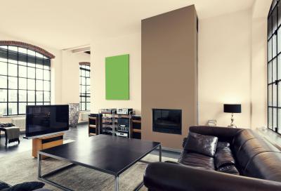 Loftlakás - nappali ötlet, modern stílusban