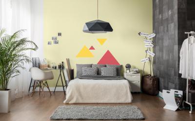 Hálószoba dekor falfestéssel - háló ötlet, modern stílusban