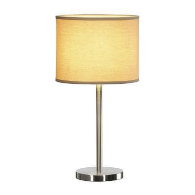 Bézs (lenvászon / műanyag / acél) asztali lámpatest
