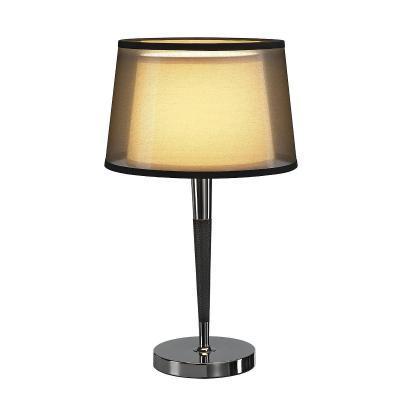 Fekete (textil / acél / műbőr) asztali lámpatest