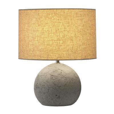 Szürke (beton / textil) asztali lámpatest