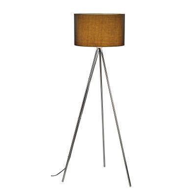 Fekete (acél) álló lámpatest - nappali ötlet, modern stílusban