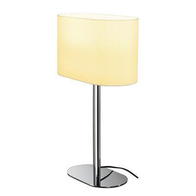 Fehér (textil / műanyag / acél) asztali lámpatest