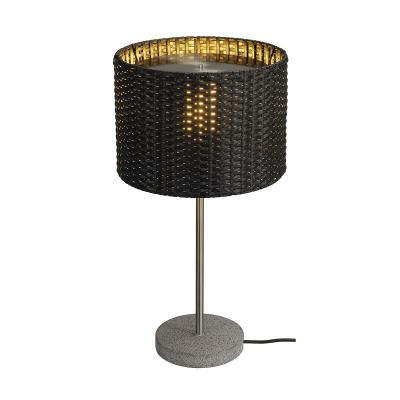 Antracit (gránit / rozsdamentesacél / műanyag) asztali lámpatest - kert / udvar ötlet, modern stílusban