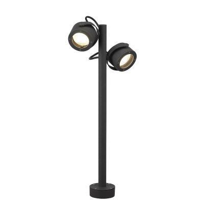 Antracit (alumínium / üveg) álló lámpatest