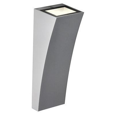 Ezüstszürke (alumínium / üveg) fali lámpatest
