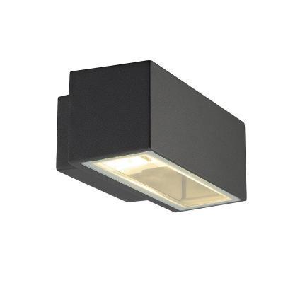Antracit (alumínium / üveg) fali lámpatest