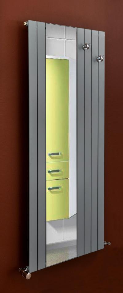Mirror tükrös fűtőfal - belső továbbiak ötlet, modern stílusban