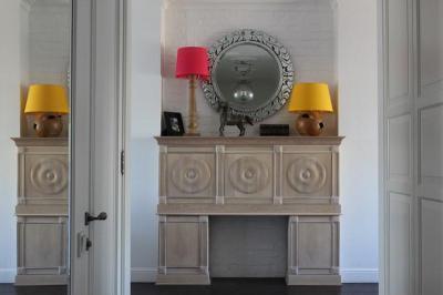Kandalló a nappaliban - nappali ötlet