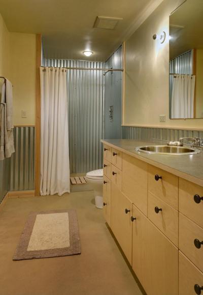 Fürdőszoba a nyaralóban - fürdő / WC ötlet, modern stílusban