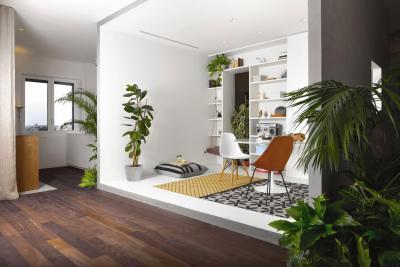 Beszélgetősarok - nappali ötlet, modern stílusban