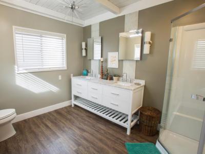 Remek, igényes fürdő - fürdő / WC ötlet, modern stílusban
