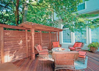 Terasz tűzrakóval - erkély / terasz ötlet, klasszikus stílusban