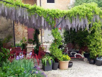 Lila akác alatt - kert / udvar ötlet, rusztikus stílusban
