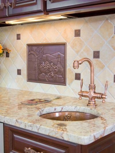 Réz dekoráció - konyha / étkező ötlet, klasszikus stílusban