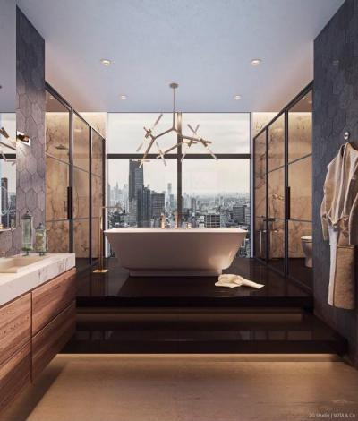 Elegancia a fürdőszobában - fürdő / WC ötlet, modern stílusban