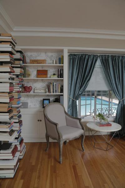 Olvasószoba - belső továbbiak ötlet, klasszikus stílusban