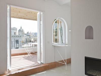 Kijárat a teraszra - erkély / terasz ötlet, rusztikus stílusban