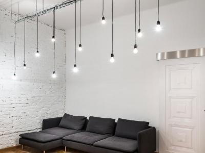 Loftos hangulat - nappali ötlet, modern stílusban