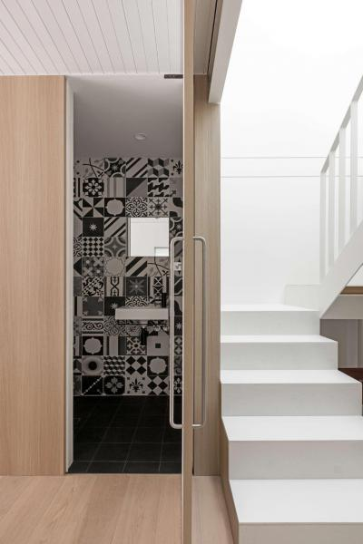 Dekoratív fürdőszoba - belső továbbiak ötlet, modern stílusban