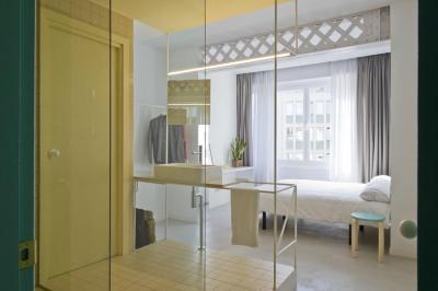 Mosdó a hálószobában - háló ötlet, modern stílusban