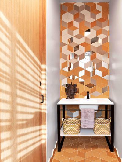 Látványos fürdőszoba - fürdő / WC ötlet, egzotikus stílusban