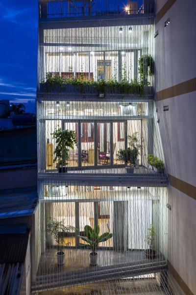 Egyedi terasz megoldás - homlokzat ötlet, modern stílusban