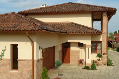 TONDACH® Palotás kerámia tetőcserép antik színben - tető ötlet, mediterrán stílusban