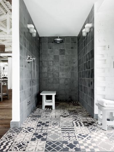 Épített zuhanyfülke - fürdő / WC ötlet, modern stílusban