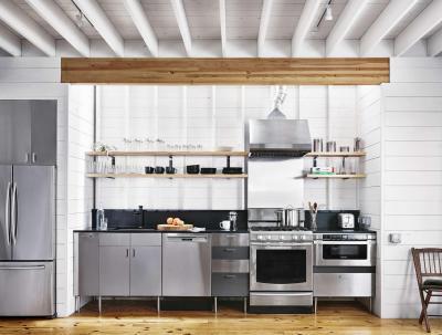 Modern konyha rusztikus környezetben - konyha / étkező ötlet, modern stílusban