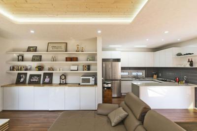 Konyha és nappali egy térben - konyha / étkező ötlet, modern stílusban