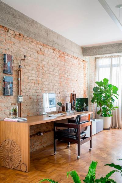 Retró bútorok a dolgozószobában - dolgozószoba ötlet