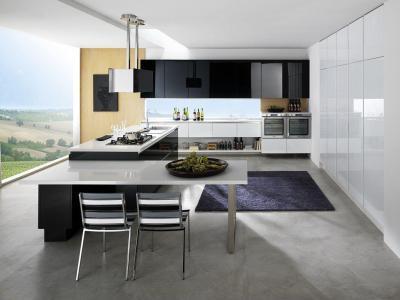 Tüökéletes kilátás - konyha / étkező ötlet, minimál stílusban